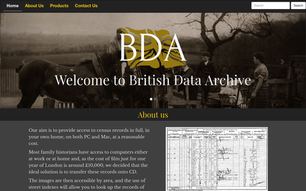 British Data Archive site