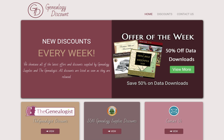 Genealogy Discount site