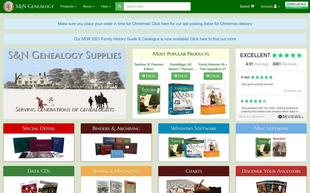 Genealogy Supplies site