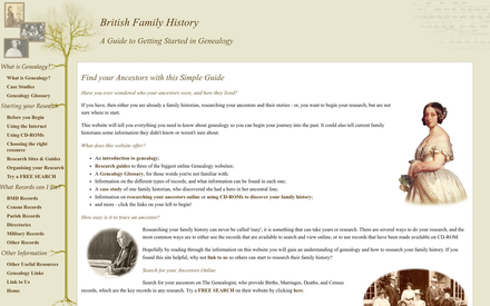 British Family History site