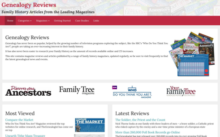 Genealogy Reviews site