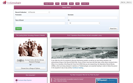The Genealogist site