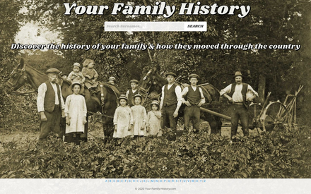 Your Family History site